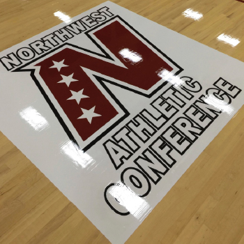 Courtdecal coated conference logo