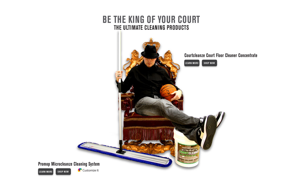 BE THE KING OF YOUR COURT - ULTIMATE FLOOR CARE PRODUCTS BY COURTSPORTS