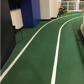 Nike indoor track painting