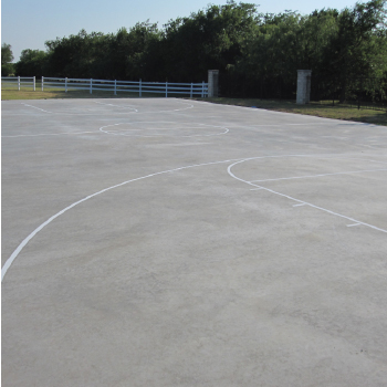 Steve Harvey outdoor concrete basketball line paintwork