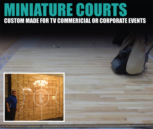 MINIATURE BASKETBALL COURTS FOR TV COMMERICIAL, PRINT ADS, CORPORATE EVENTS, OR HOME