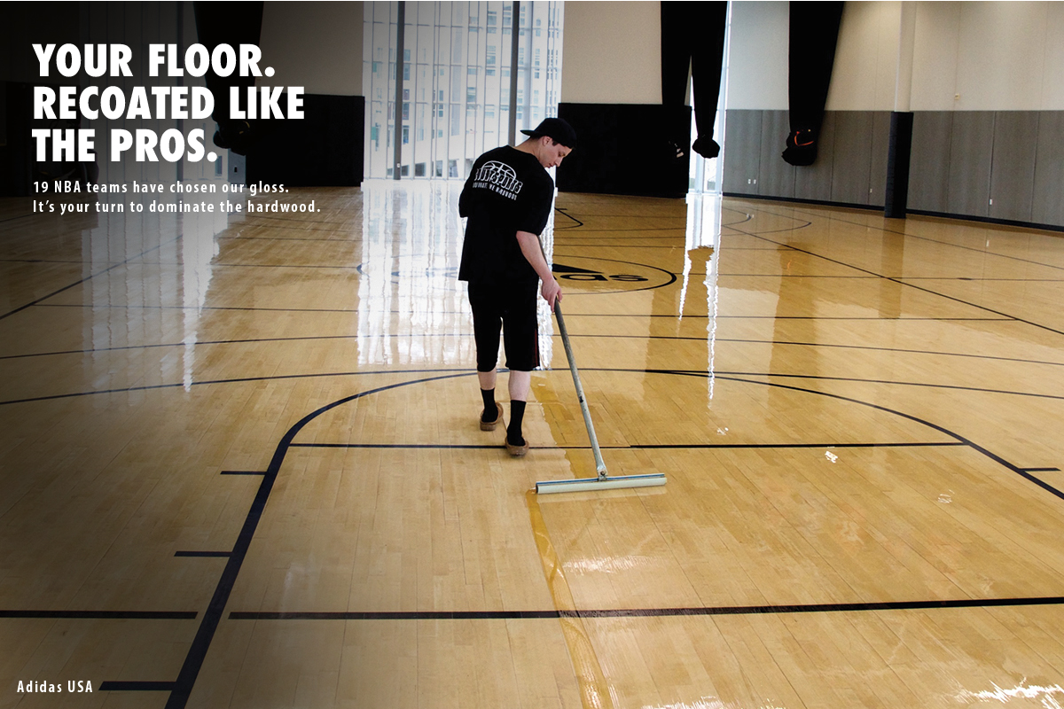 BASKETBALL COURT FLOOR RECOATING - RECOAT LIKE THE PROS SO YOU CAN DOMINATE THE HARDWOOD