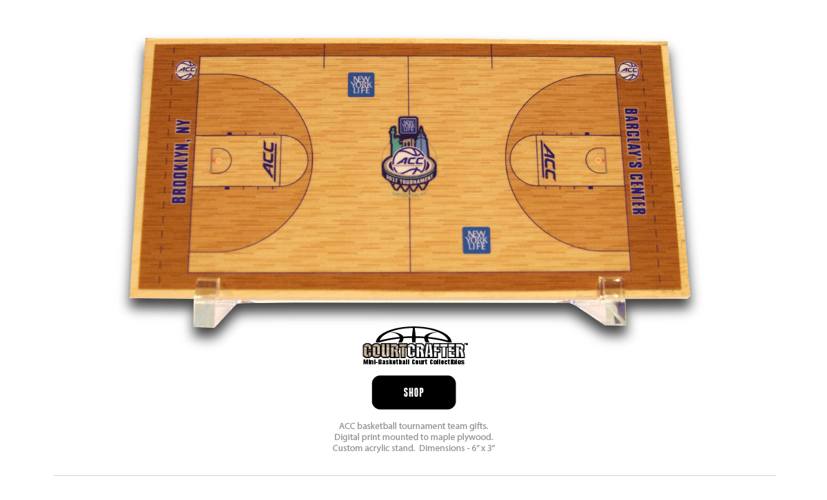 COURTCRAFTER - DESKTOP MINI BASKETBALL COURT REPLICA - TEAM AND COACHES GIFTS