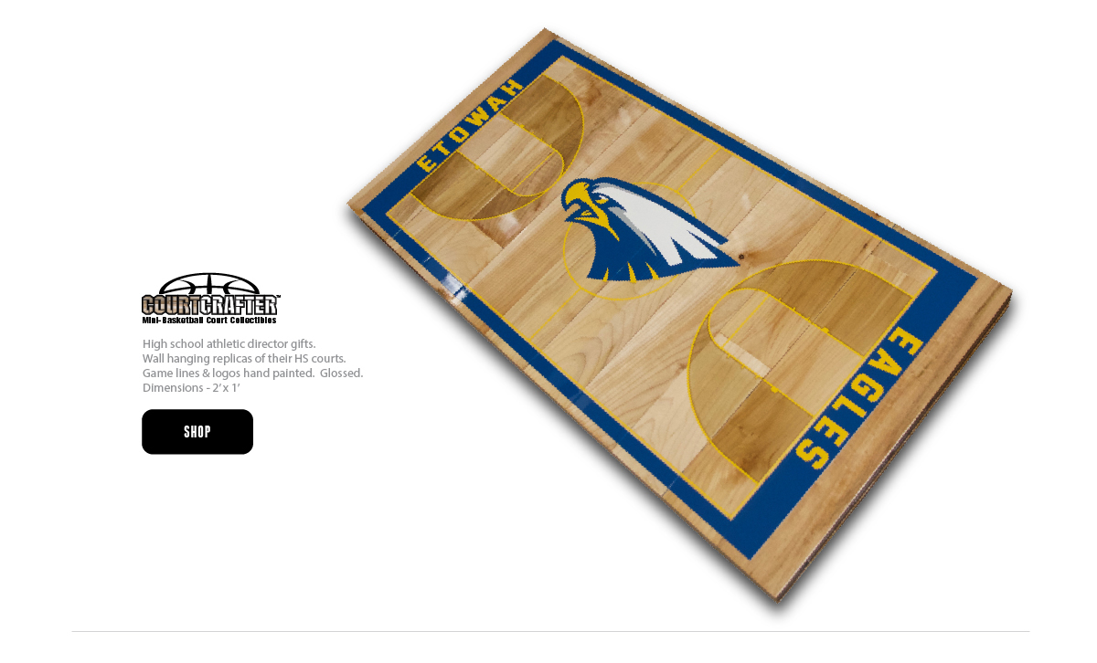COURTCRAFTER - MINI BASKETBALL COURT FLOOR REPLICA OF HIGH SCHOOL GYMNASIUM - EXCELLENT ATHLETIC DIRECTOR GIFTS