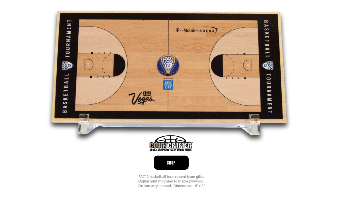 COURTCRAFTER DESKTOP MINI BASKKETBALL COURT REPLICA GIFTS FOR TEAMS AND COACHES