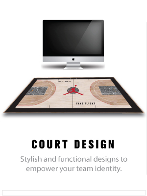 basketball court floor design and logo creation