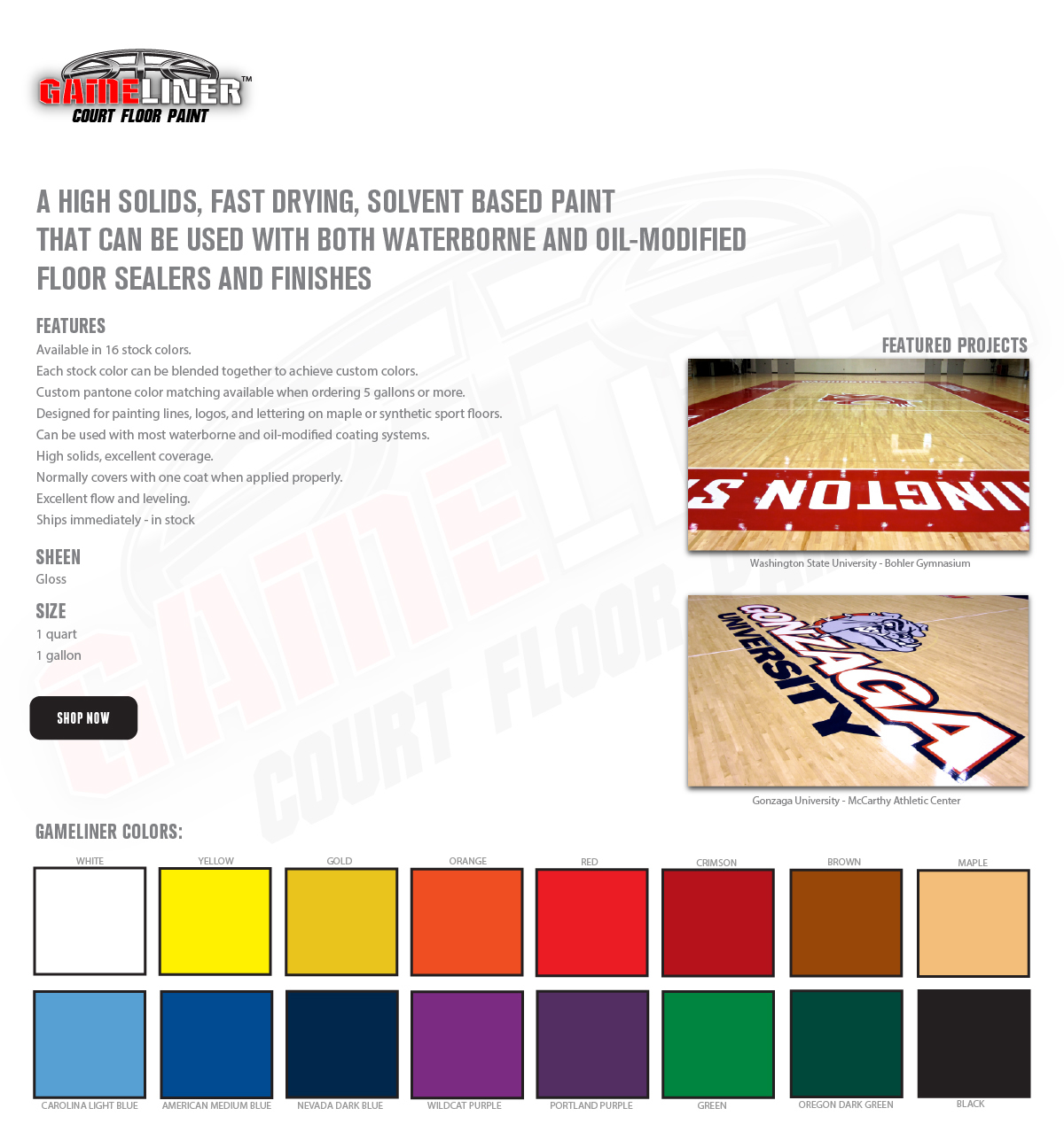 Liner Court Floor Paint