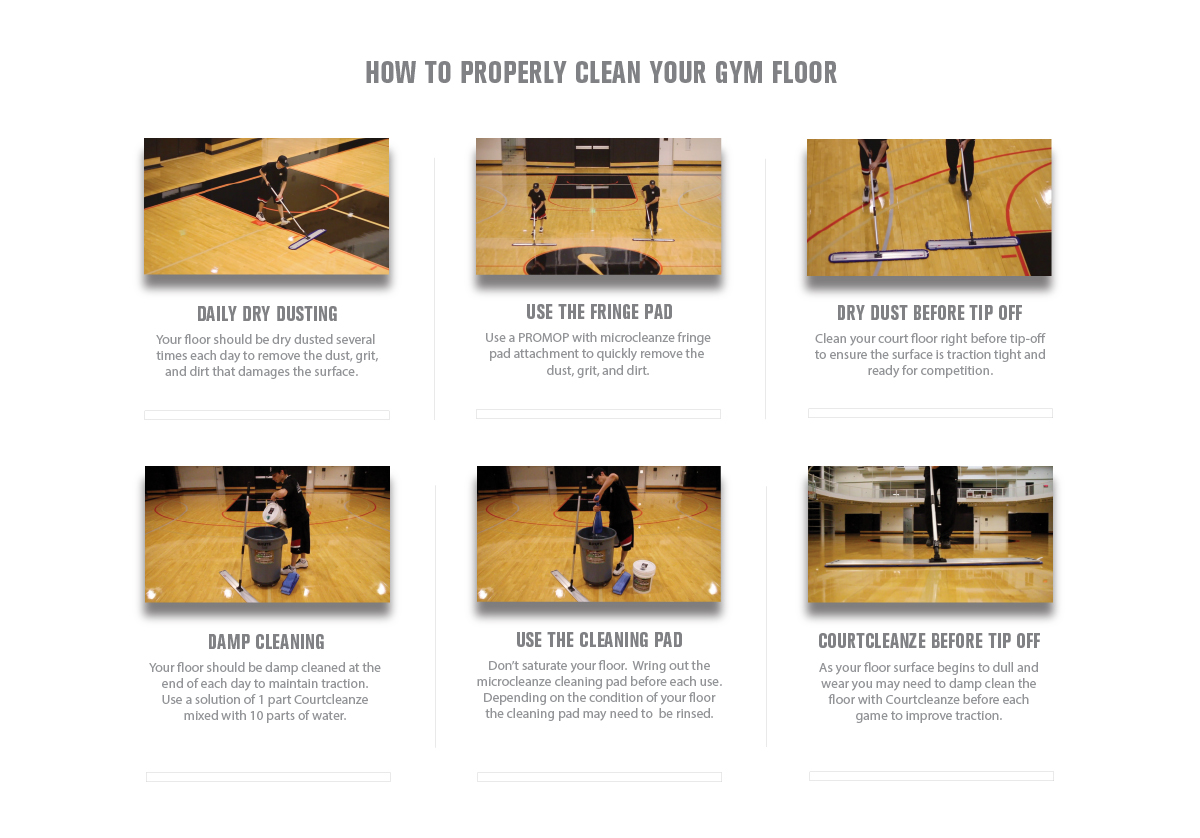 how to properly clean your slippery gym floor