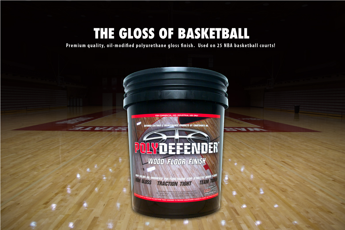 Polydefender Wood Floor Finish Premium Quality Oil Modified Urethane Gloss For Basketball