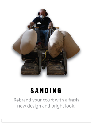 hardwood basketball court floor sanding and refinshing