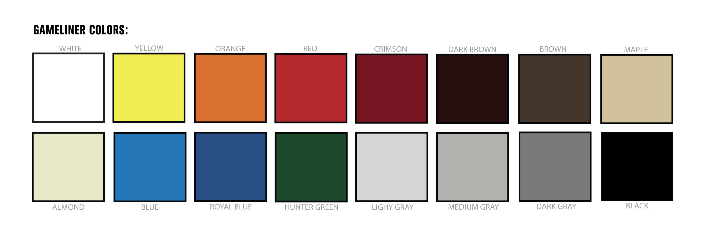 GAMELINER BASKETBALL COURT FLOOR PAINT COLOR CHOICES