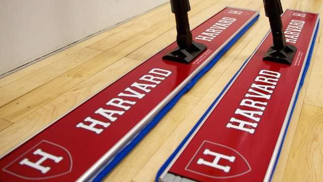 harvard university basketball floor mop