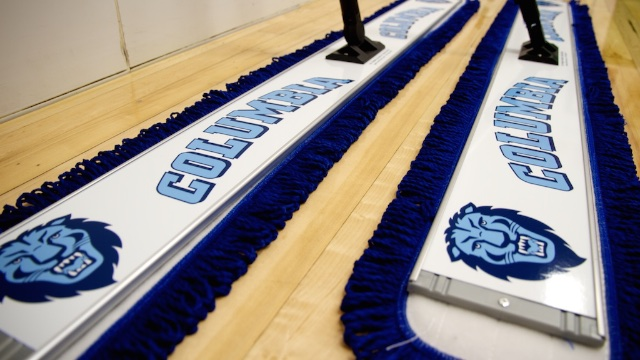 columbia university basketball floor mop