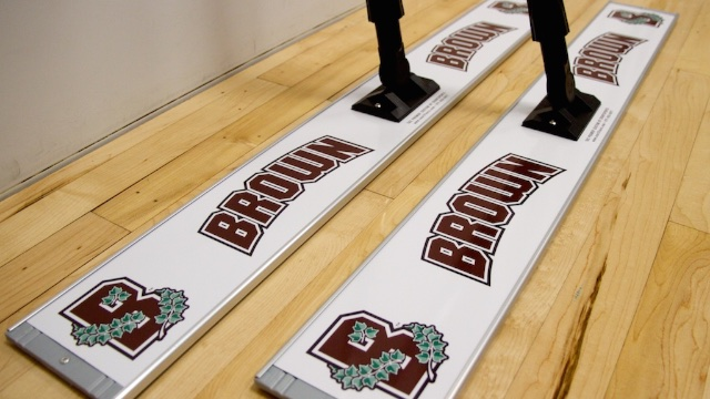 brown university basketball floor mop