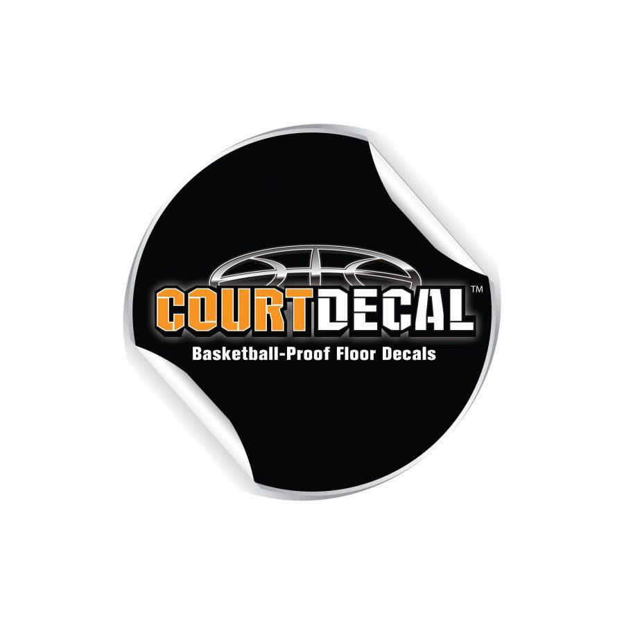 BASKETBALL-PROOF VINYL FLOOR DECALS