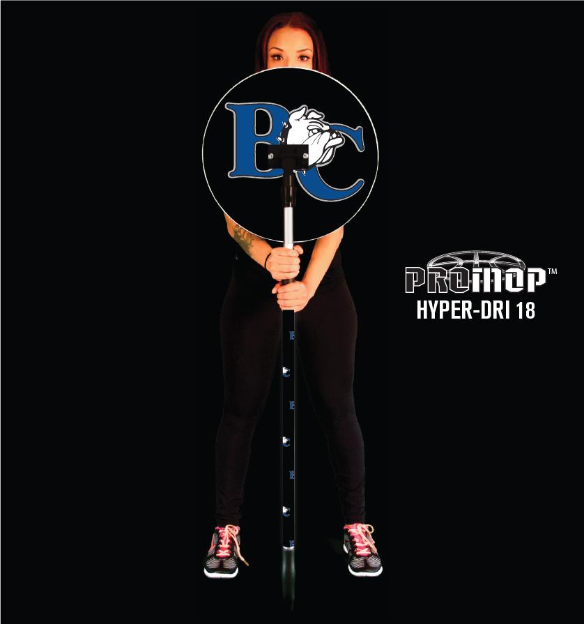 Promop Hyper-Dri 18 round basketball mop with team logo