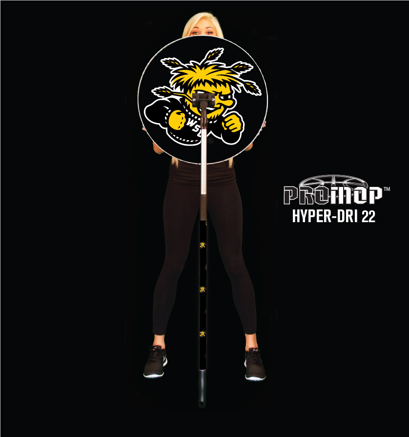 Promop Hyper-Dri 22 round basketball mop with sponsor logo