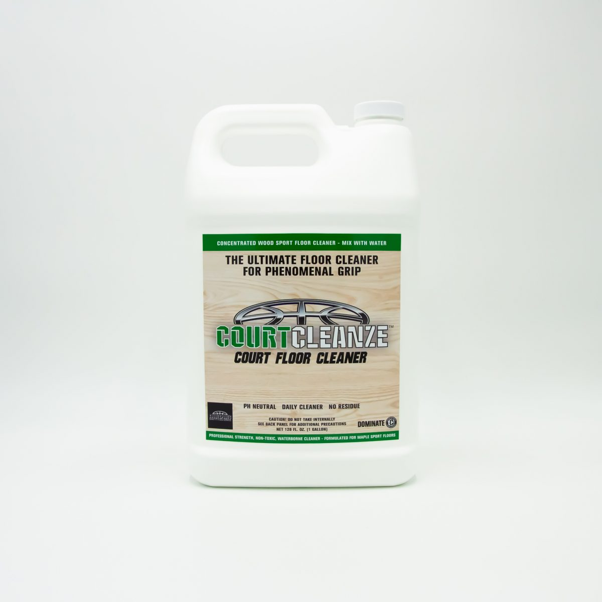 CONCENTRATED WOOD FLOOR CLEANER FOR BASKETBALL COURTS, GROUP X STUDIOS, RACQUETBALL, AND DANCE HALLS