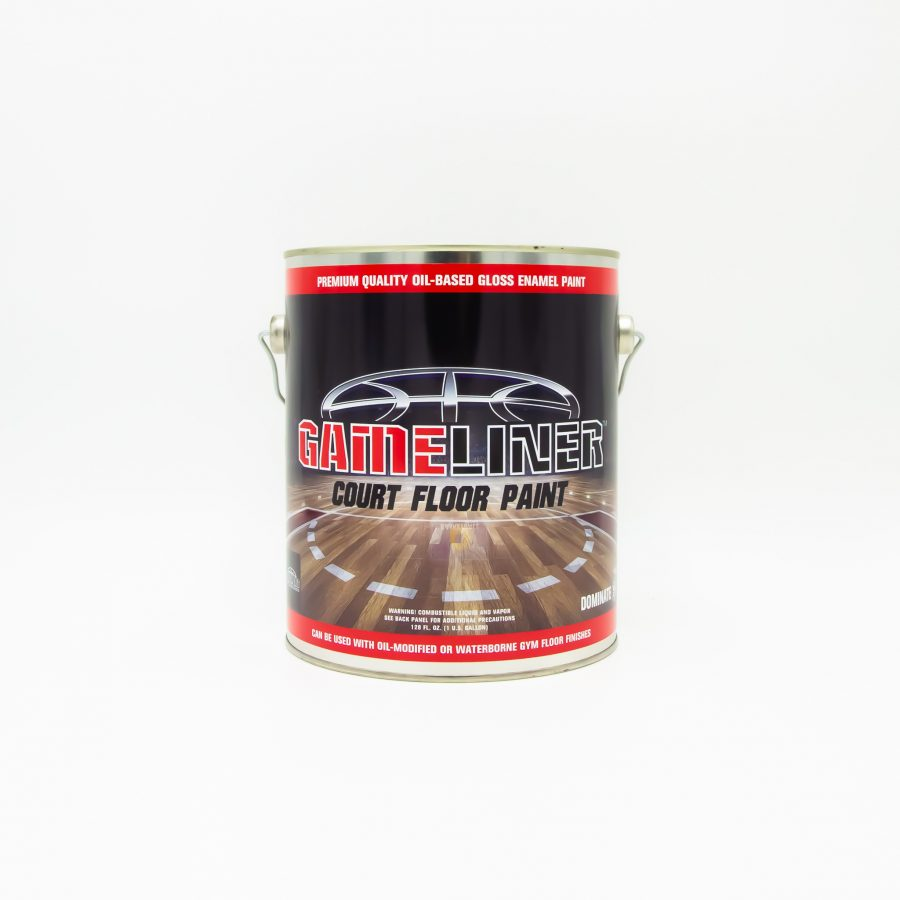 GAMELINER BASKETBALL COURT FLOOR PAINT - OIL-BASED ENAMEL FOR GAME LINES, GRAPHICS, AND LETTERING - FAST DRYING