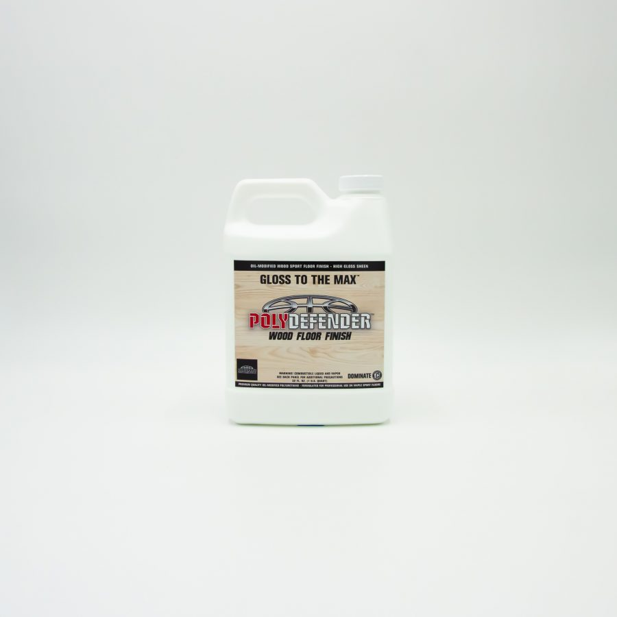 POLYDEFENDER WOOD FLOOR FINISH - OIL-MODIFIED POLYURETHANE FLOOR FINISH FORMULATED FOR MAPLE SPORT FLOORS - HIGH GLOSS