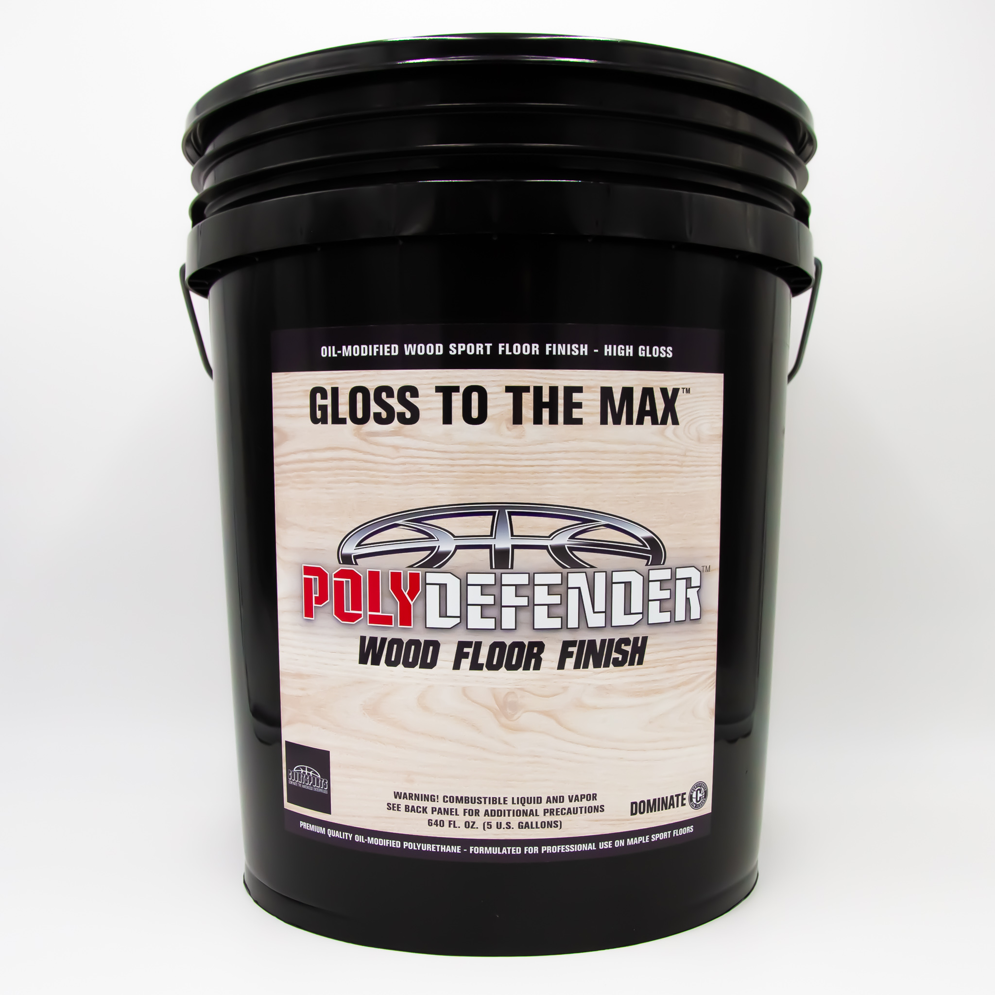 Wood Floor High Gloss Finish: POLYDEFENDER FINISH – 5 GAL